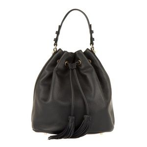 Abro Adria Leather Bucket Bag in Black